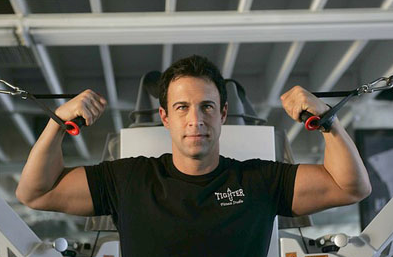 Steve Zim owner of A Tighter U gym in Culver City offers personal training.